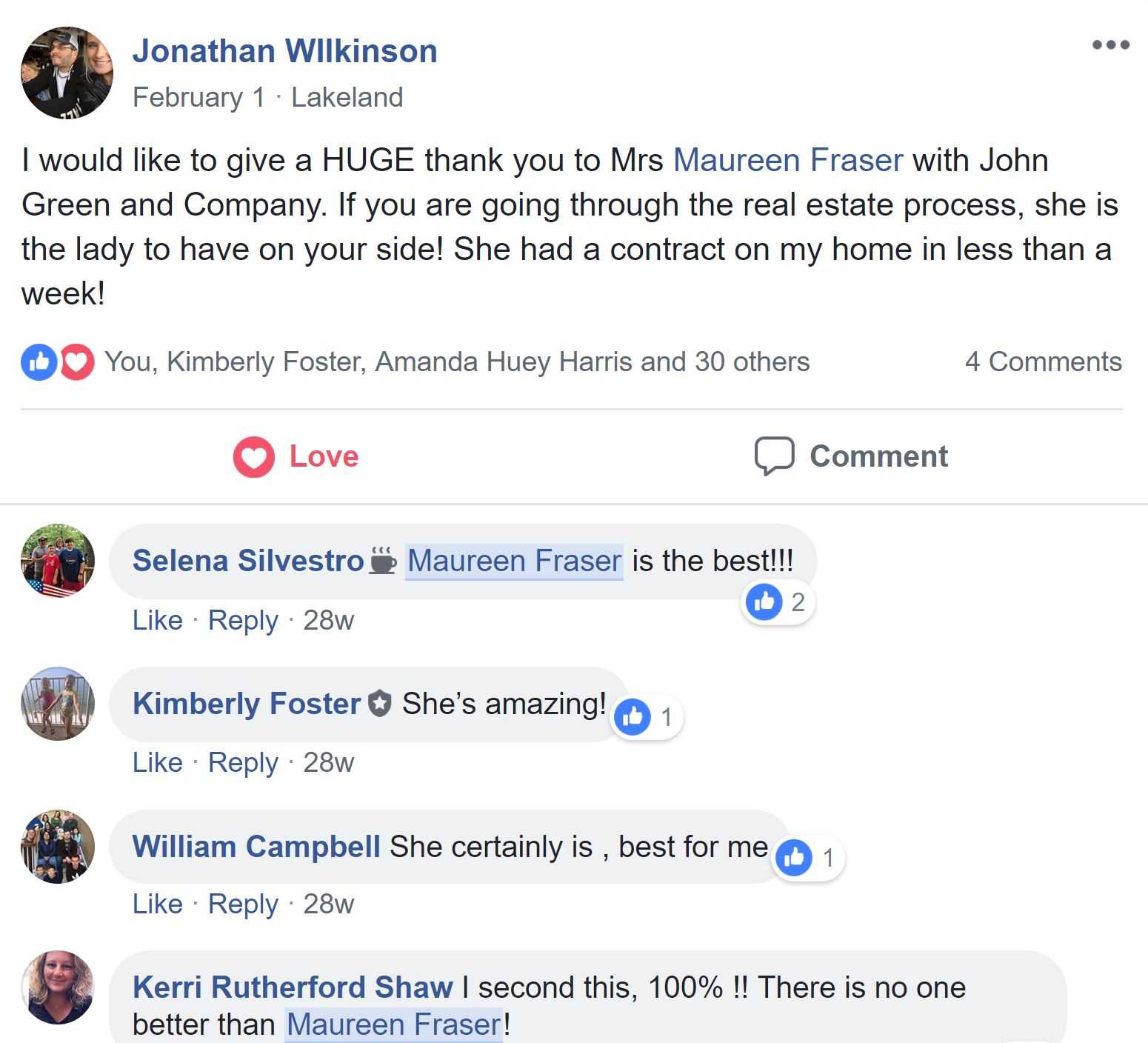 FB review on Shop Collierville