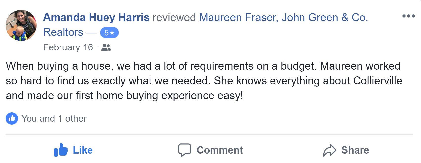 Facebook review - Amanda Harris